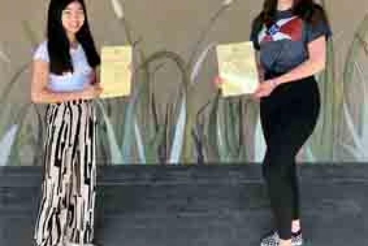 Thuy Linh Ngo und Lisa Krapp _ Zweitplazierte ZC Schwetzingen